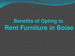 Rent Furniture in Boise