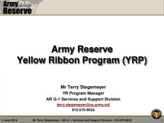 Army Reserve Yellow Ribbon Program YRP