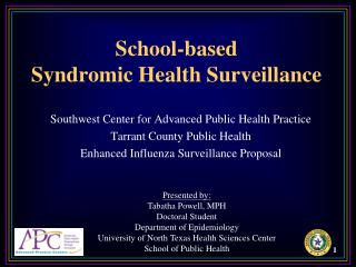 School-based  Syndromic Health Surveillance