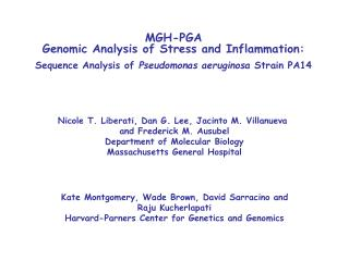 MGH-PGA Genomic Analysis of Stress and Inflammation: Sequence Analysis of Pseudomonas aeruginosa Strain PA14
