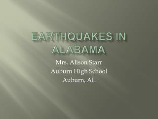 Earthquakes in Alabama