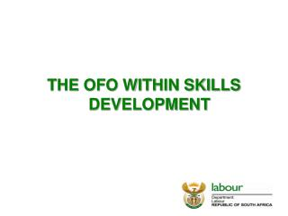 THE OFO WITHIN SKILLS DEVELOPMENT