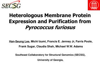 Heterologous Membrane Protein Expression and Purification from Pyrococcus furiosus