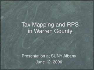 Tax Mapping and RPS in Warren County