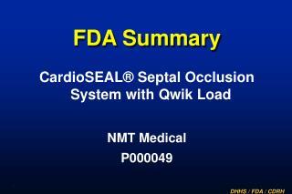 FDA Summary
