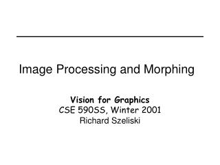 Image Processing and Morphing