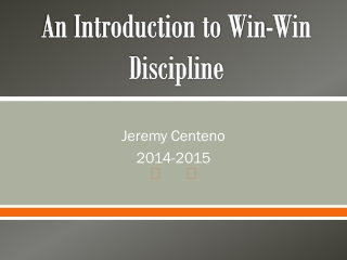 Win-Win Discipline Cooperative Learning Model