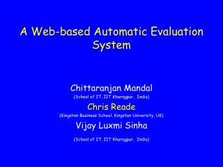 A Web-based Automatic Evaluation System