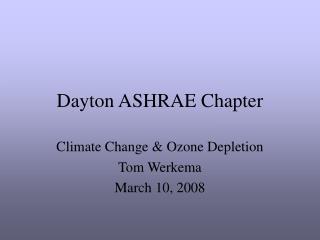 Dayton ASHRAE Chapter