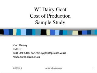 WI Dairy Goat
