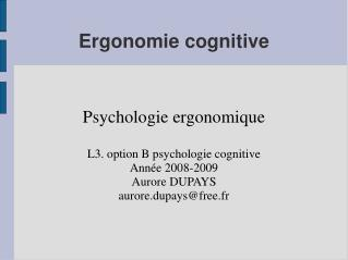 Ergonomie cognitive