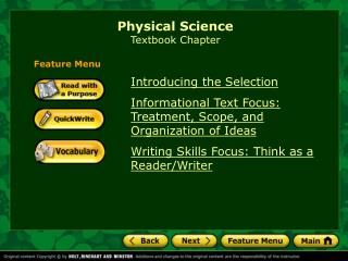 Physical Science Textbook Chapter