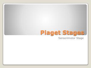Piaget Stages