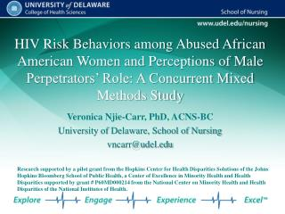 HIV Risk Behaviors among Abused African American Women and Perceptions of Male Perpetrators  Role: A Concurrent Mixed Me