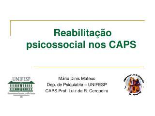 Reabilita  o psicossocial nos CAPS