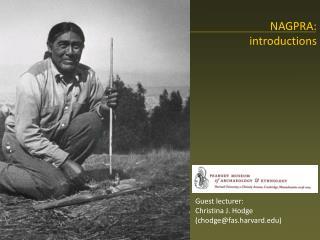 NAGPRA: introductions