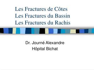 Les Fractures de C tes Les Fractures du Bassin Les Fractures du Rachis