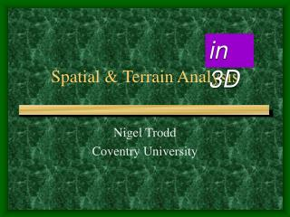 Spatial  Terrain Analysis