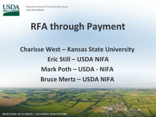 RFA through Payment