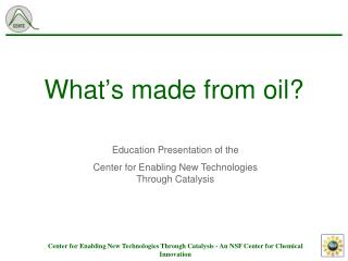 What s made from oil