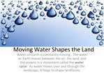 Moving Water Shapes the Land