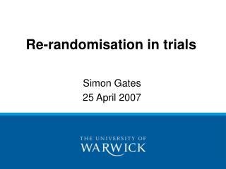 Re-randomisation in trials