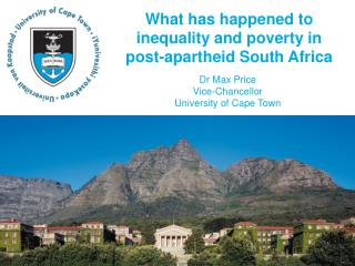 What has happened to inequality and poverty in post-apartheid South Africa