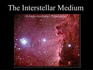 The Interstellar Medium