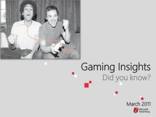 Gaming Insights Did you know    March 2011
