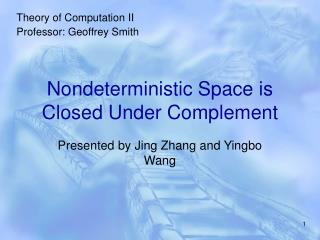 Nondeterministic Space is Closed Under Complement