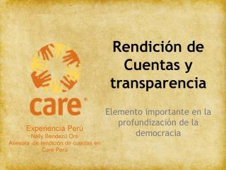 Rendici n de Cuentas y transparencia