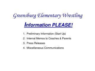 Greensburg Elementary Wrestling