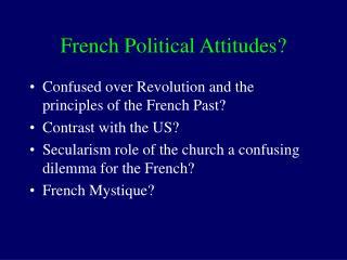 French Political Attitudes