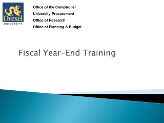 Fiscal Year-End Training