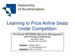 Learning to Price Airline Seats Under Competition