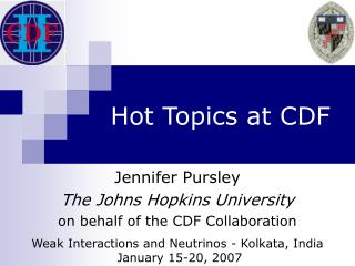 Hot Topics at CDF