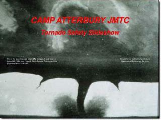 CAMP ATTERBURY JMTC Tornado Safety Slideshow