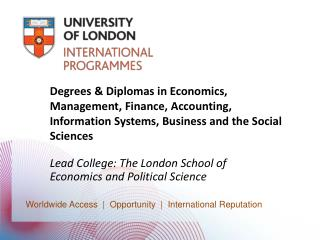 Degrees  Diplomas in Economics, Management, Finance, Accounting, Information Systems, Business and the Social Sciences