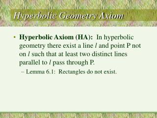Hyperbolic Geometry Axiom