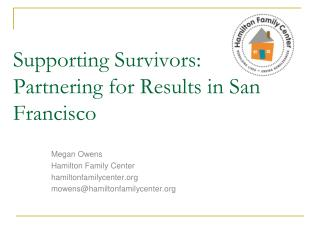 Supporting Survivors:  Partnering for Results in San Francisco