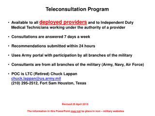 Teleconsultation Program