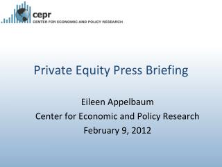 Private Equity Press Briefing