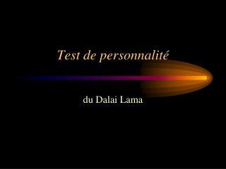 Test de personnalit