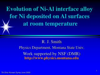 Evolution of Ni-Al interface alloy for Ni deposited on Al surfaces  at room temperature