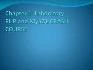 Chapter 4  Functions and Control Structures  PHP Programming with MySQL