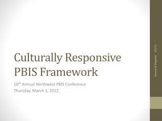 Culturally Responsive PBIS Framework