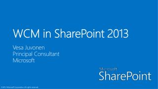 WCM in SharePoint 15