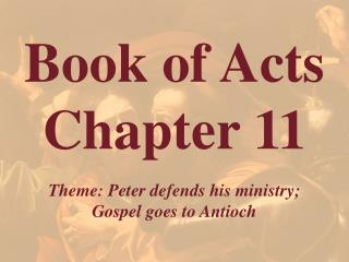 Book of Acts  Chapter 11