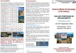 Archaeometry.ukim.mk