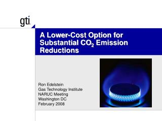 A Lower-Cost Option for Substantial CO2 Emission Reductions